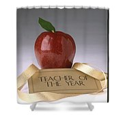 Teacher Of The Year Award Poster Shower Curtain