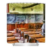 Teacher - Pay Attention In Class Shower Curtain by Mike Savad