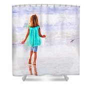First Steps Shower Curtain