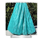 Teal Green Lace Skirt. Ameynra By Sofia Shower Curtain