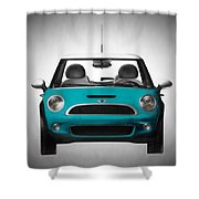 Teal Mini Coopre Shower Curtain