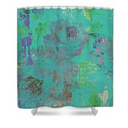 Teal Spring Shower Curtain