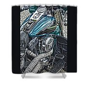 Teal Wonder Shower Curtain