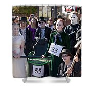 Team 55 At Emma Crawford Coffin Races In Manitou Springs Colorado Shower Curtain