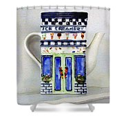 Teapot Delusional Shower Curtain
