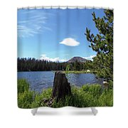 Teapot Lake Shower Curtain