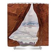 Teardrop Arch Monument Valley Shower Curtain