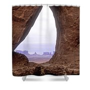 Teardrop Arch-monument Valley Shower Curtain