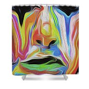 Tearful Clown Shower Curtain