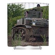 Tearing It Up - M3 Stuart Light Tank Shower Curtain