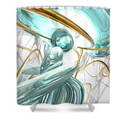 Teary Dreams Abstract Shower Curtain