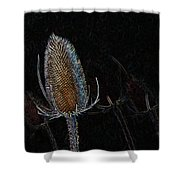 Teasel Glow Shower Curtain