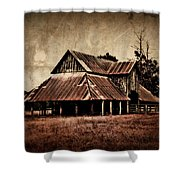 Teaselville Texas Barns Shower Curtain