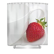 Teatime Strawberry Shower Curtain