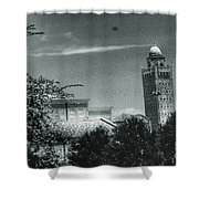 Tech Towers Shower Curtain