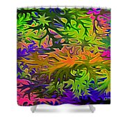 Technicolor Leaves Shower Curtain