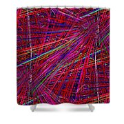 Technicolor Pick Up Stix Shower Curtain