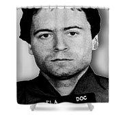Ted Bundy Mug Shot 1980 Vertical  Shower Curtain