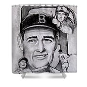 Ted Shower Curtain by Jack Skinner