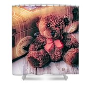 Teddy Bear And Suitcase Shower Curtain