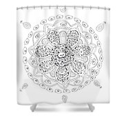 Teddy Bear Mandala Shower Curtain