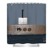 Teddy In Submarine Shower Curtain