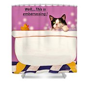 Teddy The Ninja Cat Up Close And Personal Shower Curtain