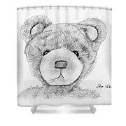 Teddybear Portrait Shower Curtain