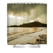 Teds Beach At Dusk Shower Curtain