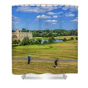 Teeing Off At Leeds Castle Shower Curtain