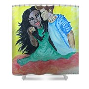 Speedy Gonzales The Mexican Girl Shower Curtain by Mimi Eskenazi