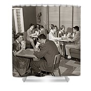 Teens At A Diner, C. 1950s Shower Curtain