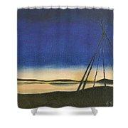Teepee Poles Shower Curtain