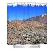 Teide Shower Curtain