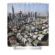 Tel Aviv And Ramat Gan Israel Shower Curtain