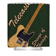 Telecaster Therapy T-shirt Shower Curtain