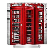 Telephone Boxes In London Shower Curtain