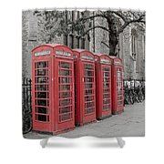 Telephone Boxes Shower Curtain