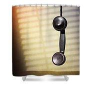 Telephone Receiver Shower Curtain