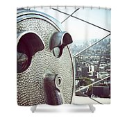 Telescope In Nyc Shower Curtain