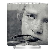 Tell Me What's Wrong Shower Curtain by Aimelle