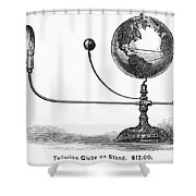 Tellurian Globe Shower Curtain