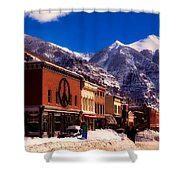 Telluride For The Holiday Shower Curtain