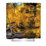 Telluride Spirituality - Colorado - Autumn Aspens Shower Curtain