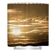 Telstra Tower Sunset Shower Curtain