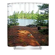 Temagami Island Campsite I Shower Curtain