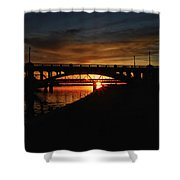 Tempe Bridge Sunset  Shower Curtain