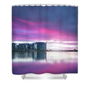 Tempe Town Lake Pink Sunset Shower Curtain