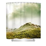 Temperate Alpine Terrain Shower Curtain