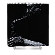 Temperate Sax Shower Curtain